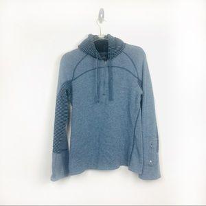 PrAna Blue Stripe Hoodie Size M